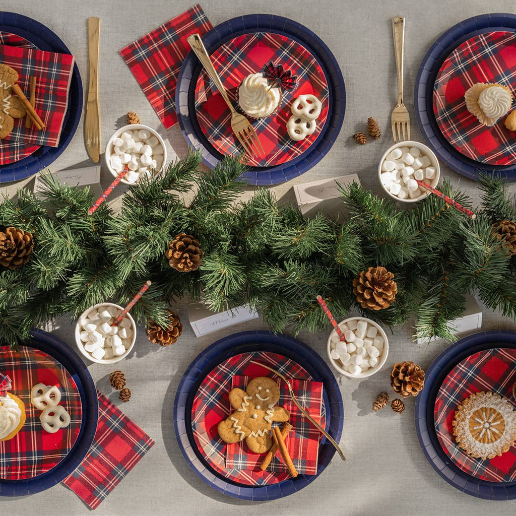 Holiday Plaid Plates Small