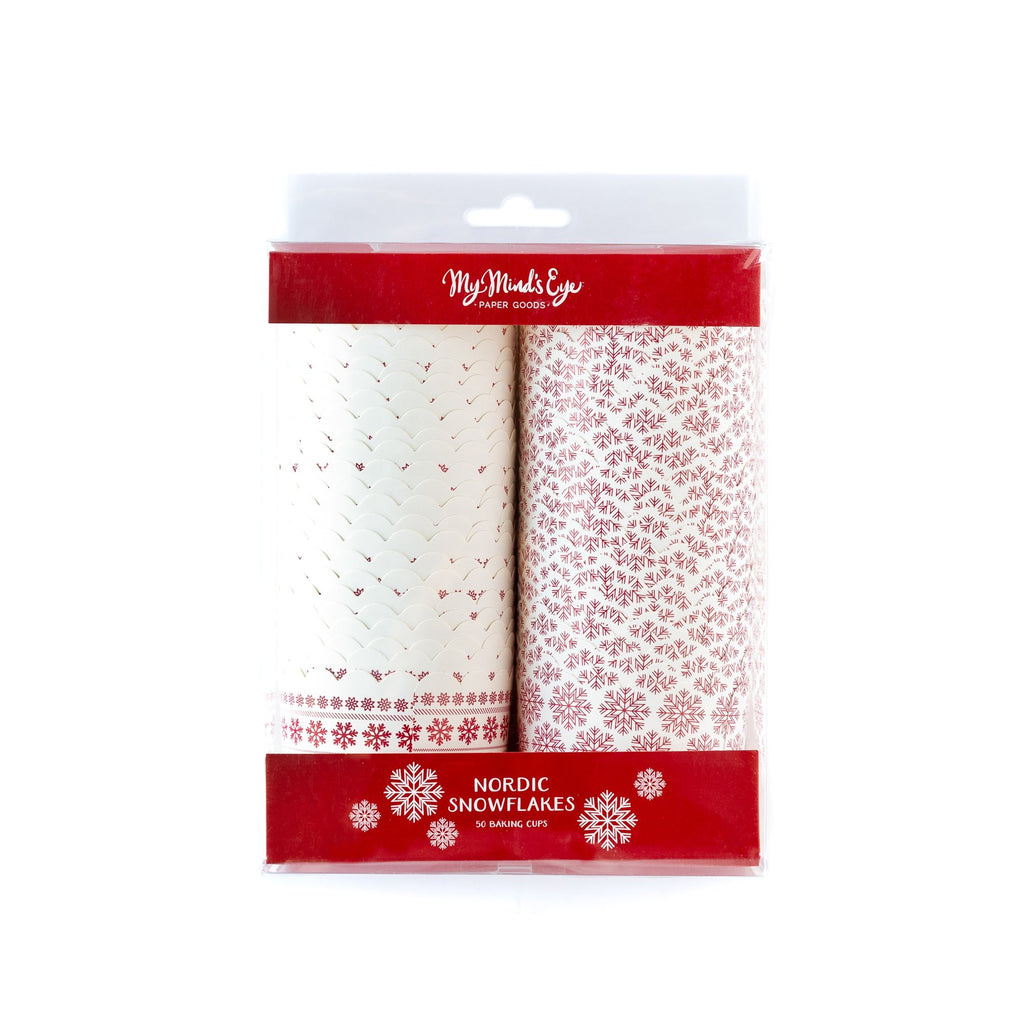 Nordic Snowflake Christmas Treat Cups