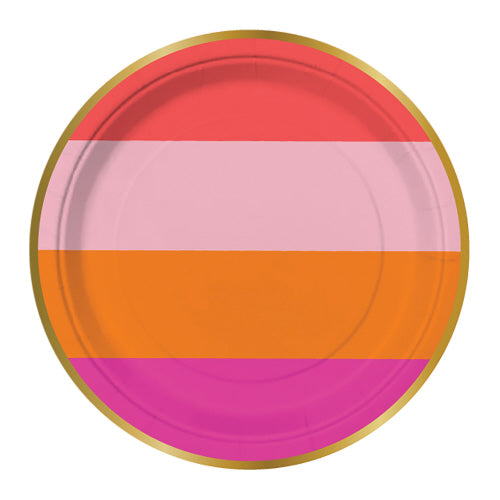 Party Girl Striped Plates