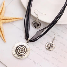 Load image into Gallery viewer, Enamel Silver Pendant Lucite Jewelry Set