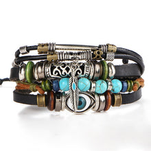 Load image into Gallery viewer, Bichy Intersex Vintage Multiple Layer Leather And Bead Bracelet