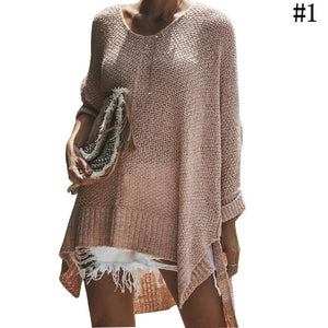 Loose Batwing Women Pullover Sweater