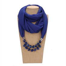 Load image into Gallery viewer, Jewelled chiffon scarf necklace