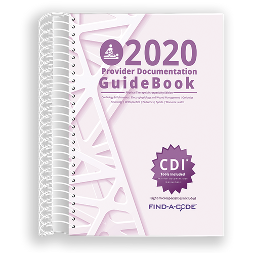 Provider Documentation GuideBook: Physical Therapy for 2020