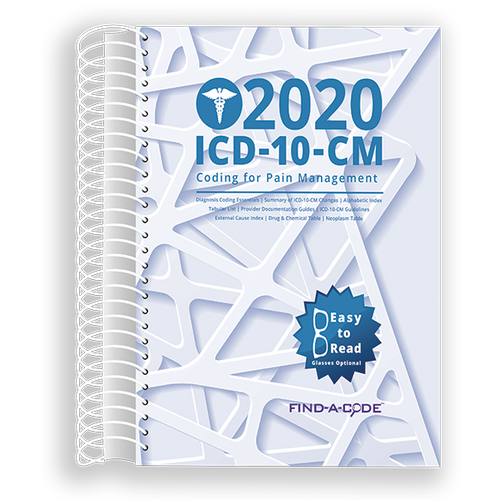 Pain Management ICD-10-CM Coding for 2020