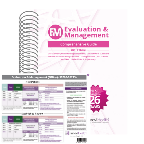 Evaluation & Management Comprehensive Guide - 3rd Edition with Cardpack Bundle