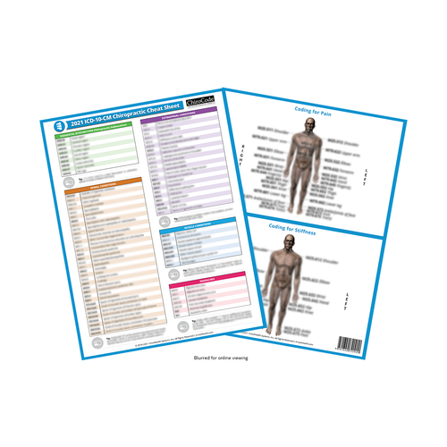 Chiropractic ICD-10-CM Cheat Sheet for 2021 by ChiroCode