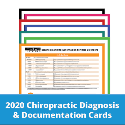 Chiropractic Diagnosis & Documentation Cards for 2020 by ChiroCode