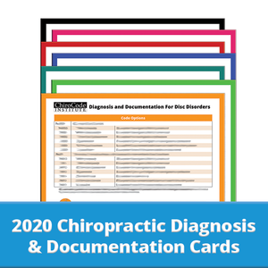 Chiropractic Diagnosis & Documentation Cards for 2020