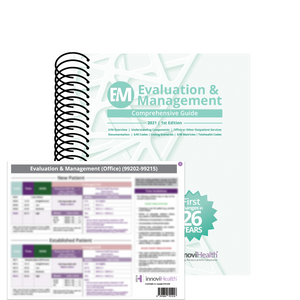 Evaluation & Management Bundle (E&M Book and Card Pack) 2021