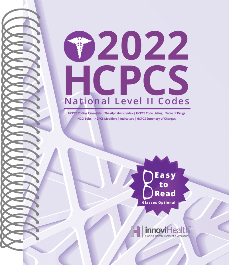 HCPCS Level II Codes for 2022 Medicare's National level II Codes