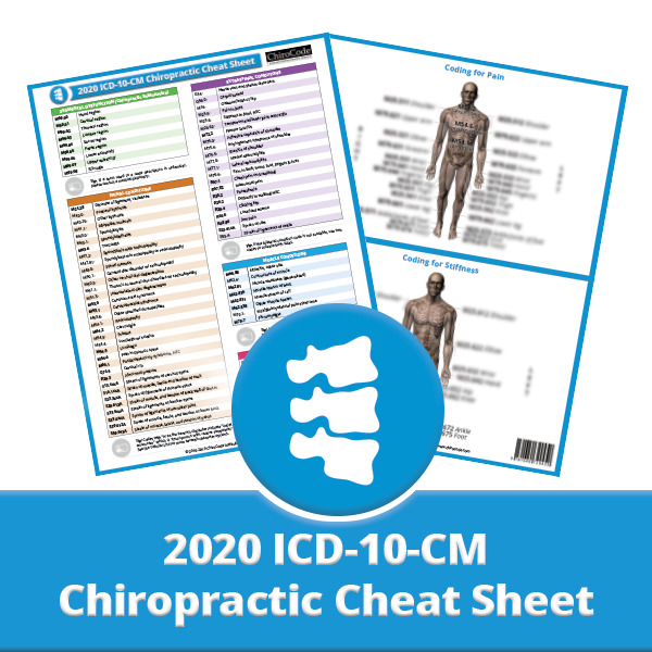 Chiropractic ICD-10-CM Cheat Sheet for 2020