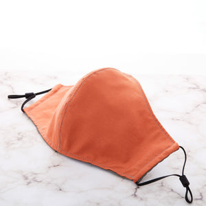 100% Cotton Men's Masks - Gray/Tangerine - Odell Design Studio