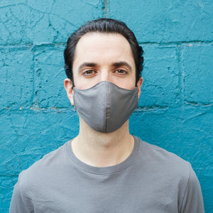 100% Cotton Men's Masks - Tangerine/Gray - Odell Design Studio