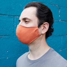Load image into Gallery viewer, 100% Cotton Men's Masks - Tangerine/Gray - Odell Design Studio