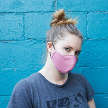 Load image into Gallery viewer, 100% Cotton Women's Masks - Mauve/Purple - Odell Design Studio
