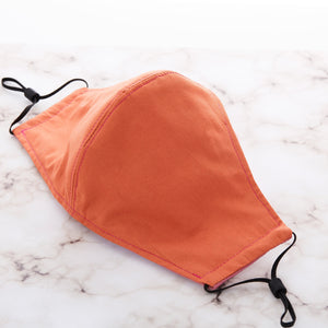 Cotton Cloth Face Mask - Mauve/Tangerine
