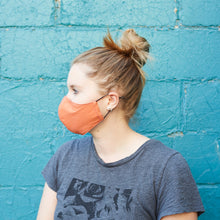 Load image into Gallery viewer, 100% Cotton Women's Masks - Mauve/Tangerine - Odell Design Studio
