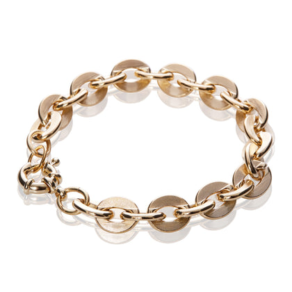 14K Gold Chunky Flat Cable Chain Bracelet - Odell Design Studio