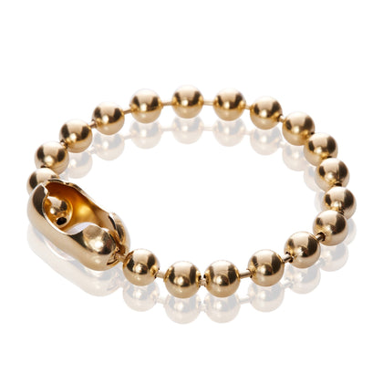 14K Gold Fancy Bead Chain Bracelet - Odell Design Studio