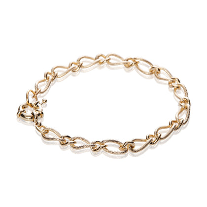 14K Gold Fancy Figaro Chain Bracelet - Odell Design Studio