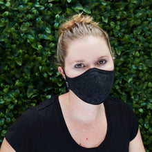 Load image into Gallery viewer, Silk Cloth Face Mask - Le Fleur Noir