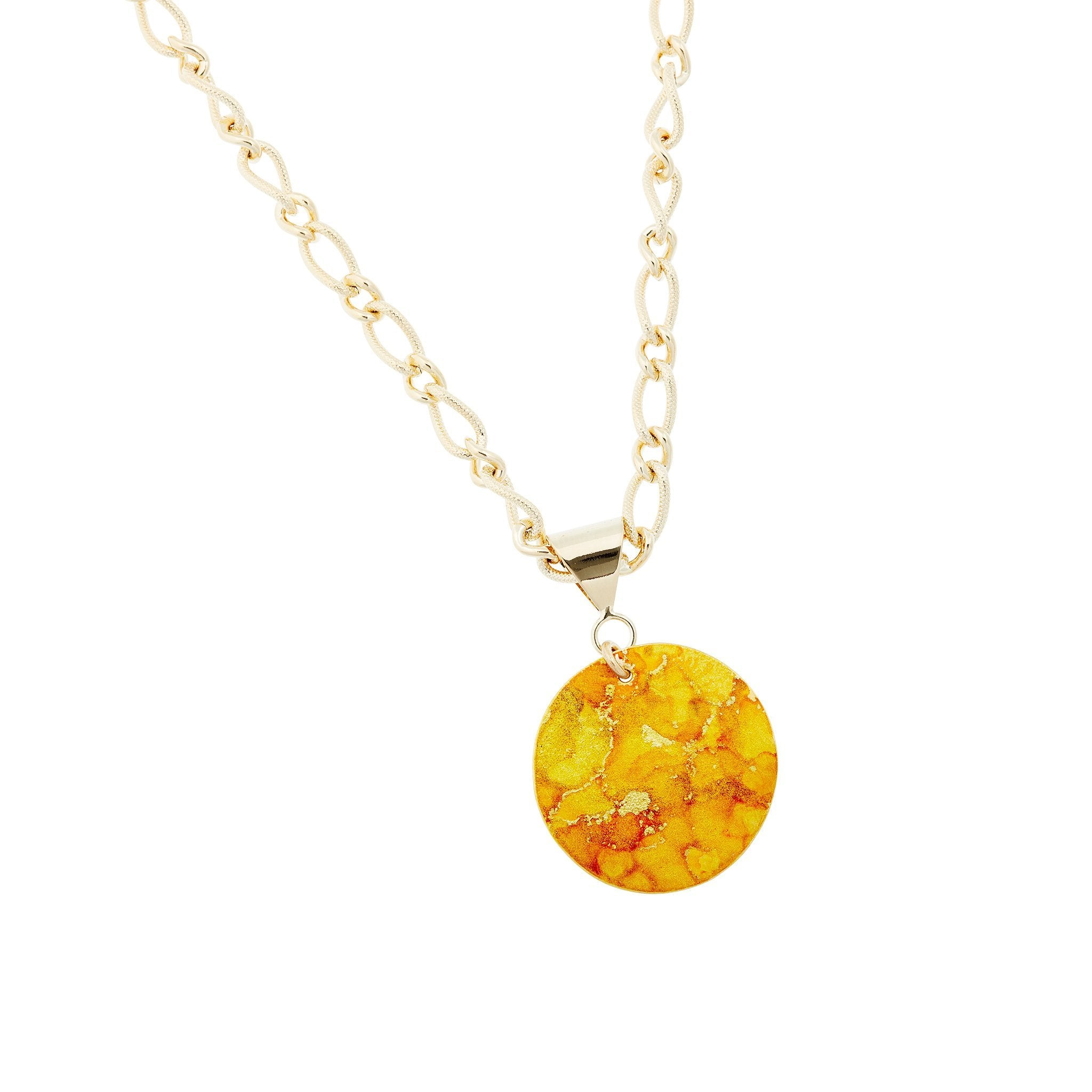 Gold Bold Pendant Necklace - Available in More Colors