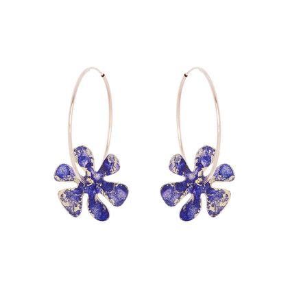Flower Power Hoop Earrings - Odell Design Studio