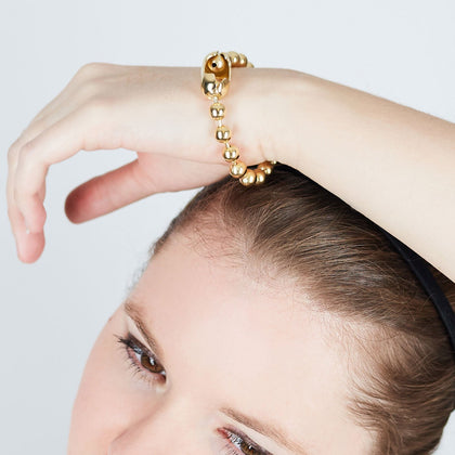 Gold Fancy Bead Chain Bracelet - Odell Design Studio