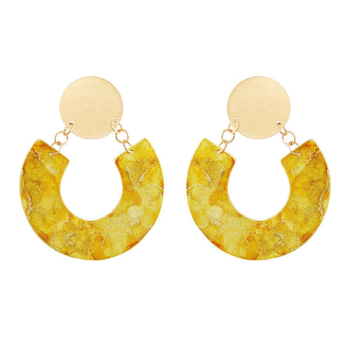 Gold Horseshoe Earrings - Available in More Colors - Odell Design Studio