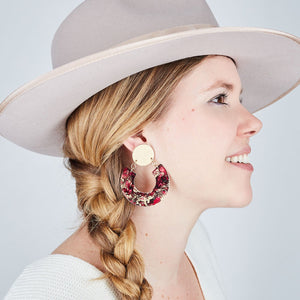 Gold Horseshoe Earrings - Available in More Colors