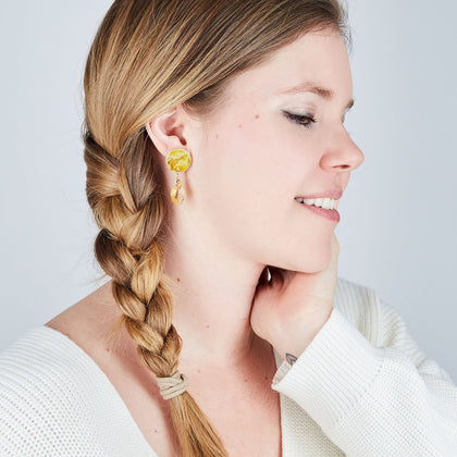 Gold Mini Drop Earrings - Available in More Colors - Odell Design Studio