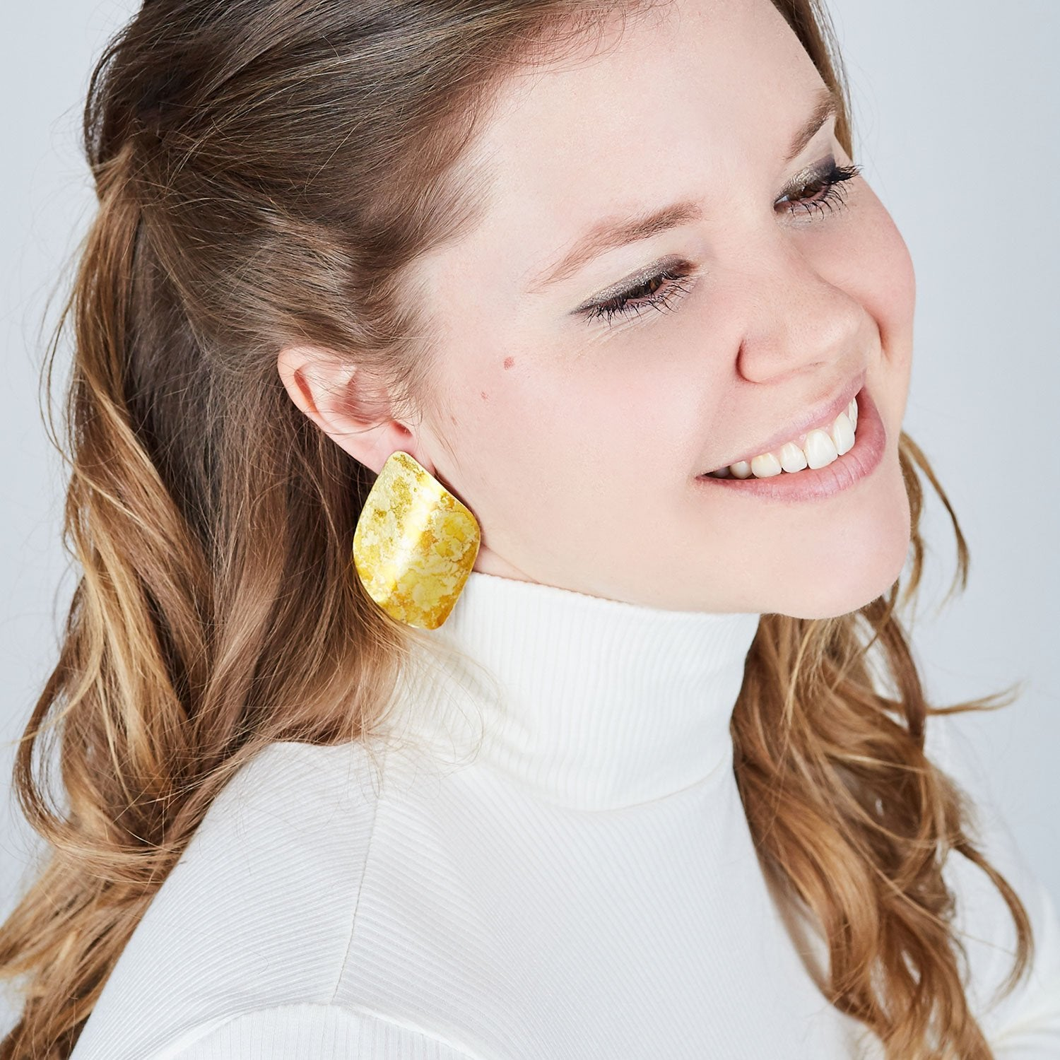 Gold Twist Earrings - Available in More Colors