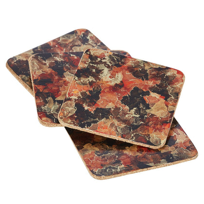 Hand-Crafted Brass Coasters - Harvest - Odell Design Studio