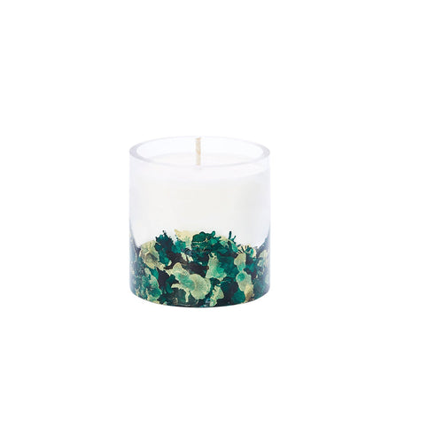 Hand-poured & Dyed 8oz Glass Soy Candle - Emerald - Odell Design Studio