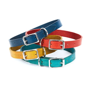 Large Leather Dog Collar - Available in More Colors