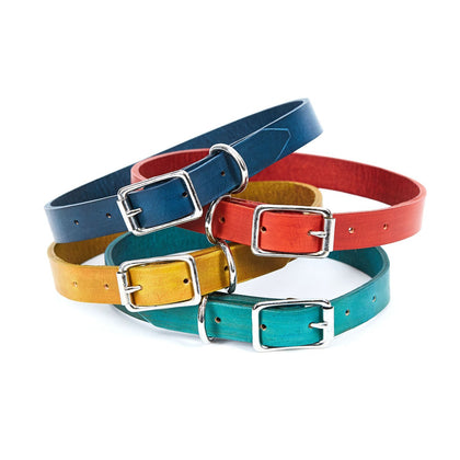 Large Leather Dog Collar - Available in More Colors - Odell Design Studio