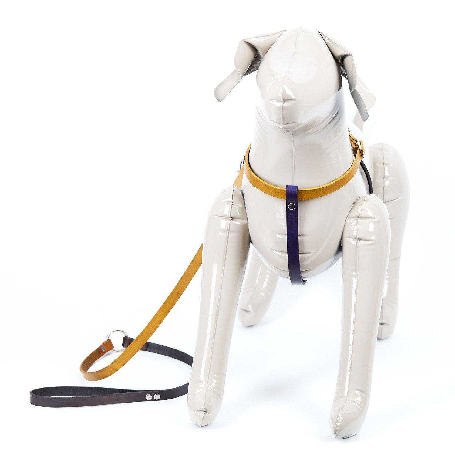 Medium Multi Colored Leather Dog Harness - Available in More Colors