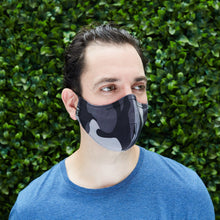 "Load image into Gallery viewer, Men's Silk/Cotton ""Sippa"" Face Mask - G.I. Joe/Gray - Odell Design Studio"