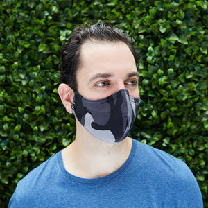 "Men's Silk/Cotton ""Sippa"" Face Mask - G.I. Joe/Gray - Odell Design Studio"