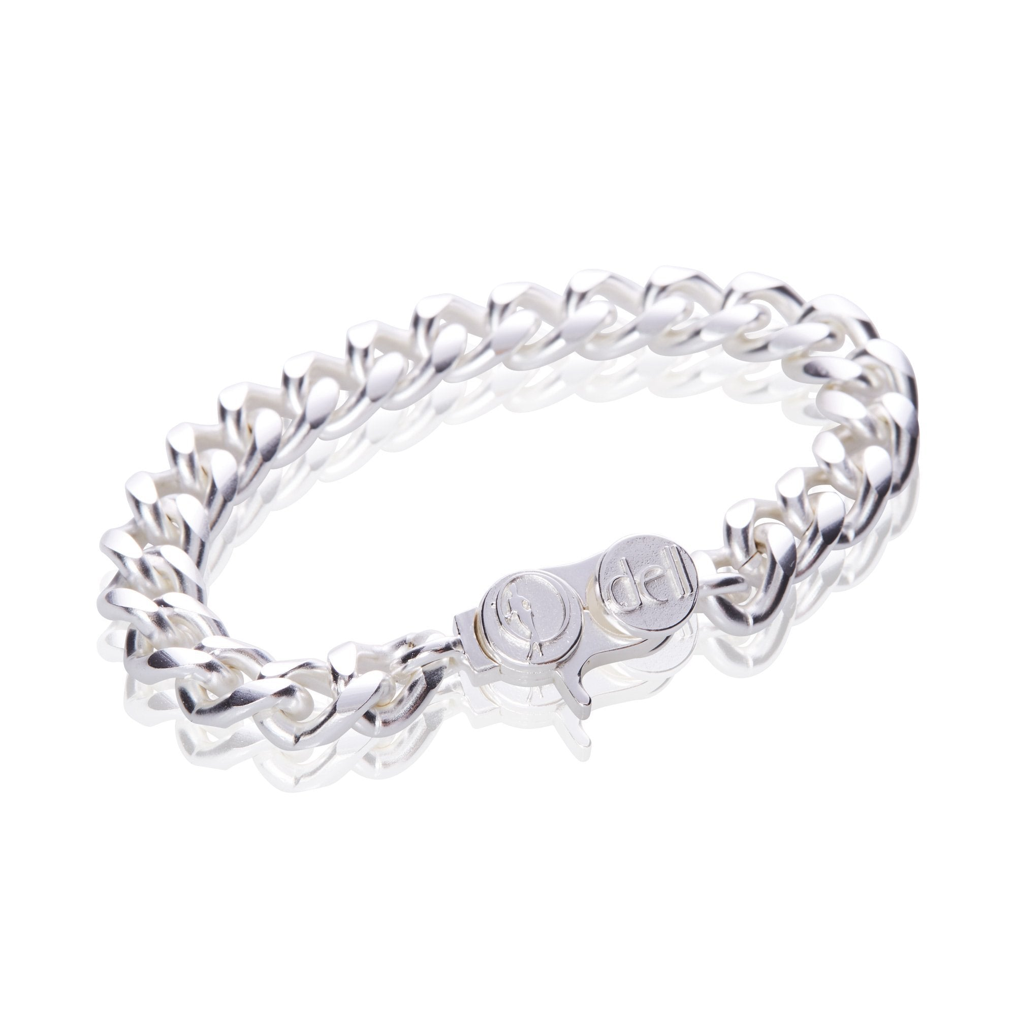 Signature Silver Chunky Flat Cable Chain Bracelet
