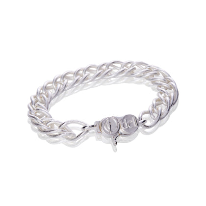 Signature Sterling Silver Fancy Double Cable Chain Bracelet - Odell Design Studio