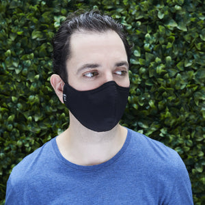 Silk Cloth Face Mask - Black/Slate Gray - Odell Design Studio