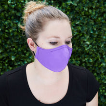Load image into Gallery viewer, Silk Cloth Face Mask - Bright Purple/Slate Gray - Odell Design Studio