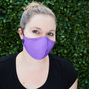 Silk Cloth Face Mask - Fuchsia/Bright Purple - Odell Design Studio