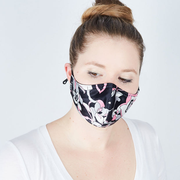 Silk Cloth Face Mask - Orchid Rising 1