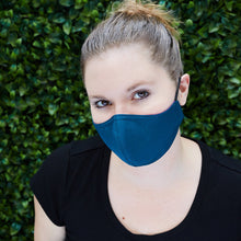 Load image into Gallery viewer, Silk Cloth Face Mask - Violet/Teal - Odell Design Studio