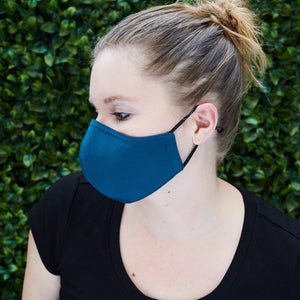 Silk Cloth Face Mask - Violet/Teal - Odell Design Studio