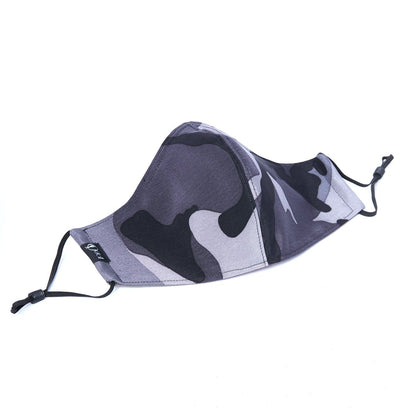 Silk + Cotton Cloth Face Mask - Cool Camo - Odell Design Studio