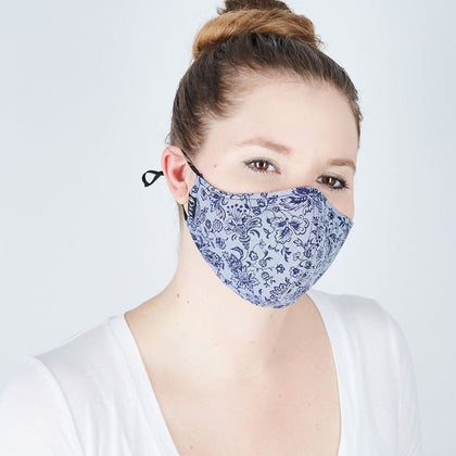 Silk + Cotton Cloth Face Mask - Denim Dreamin' - Odell Design Studio